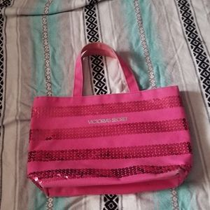 Free w/ purchase Mini Victorias secret sequin tote